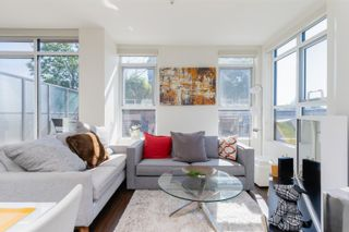 """Main Photo: 412 2250 COMMERCIAL Drive in Vancouver: Grandview Woodland Condo for sale in """"MARQUEE ON THE DRIVE"""" (Vancouver East)  : MLS®# R2622899"""