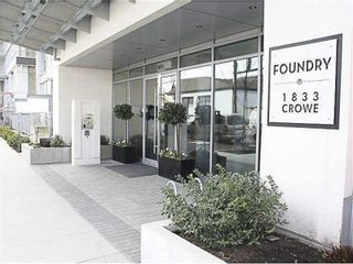"Photo 2: 1008 1833 CROWE Street in Vancouver: False Creek Condo for sale in ""FOUNDRY"" (Vancouver West)  : MLS®# R2312867"