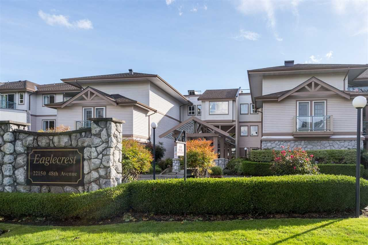 """Main Photo: 212 22150 48 Avenue in Langley: Murrayville Condo for sale in """"Eaglecrest"""" : MLS®# R2508991"""