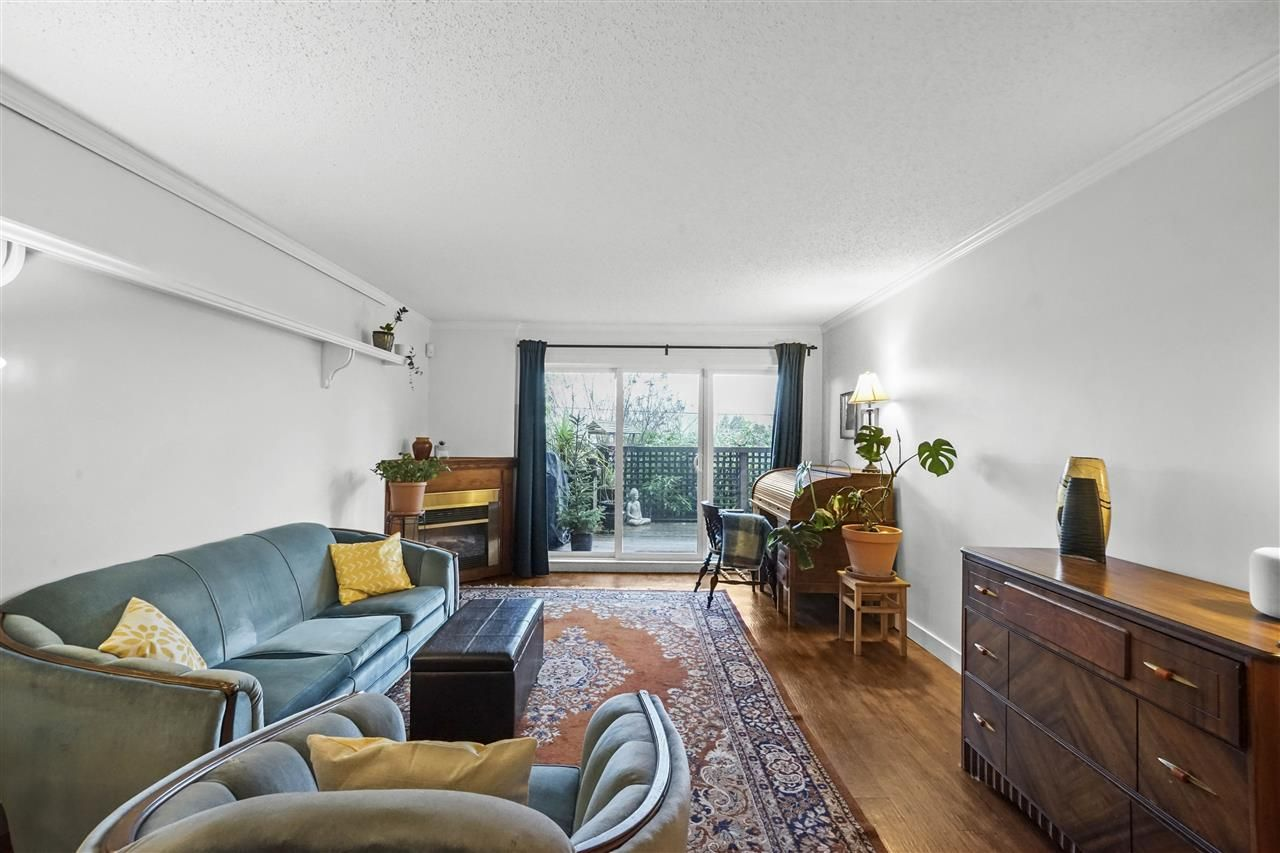 "Main Photo: 102 2240 WALL Street in Vancouver: Hastings Condo for sale in ""Landmark Edgewater"" (Vancouver East)  : MLS®# R2535330"