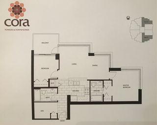 "Photo 2: 801 575 DELESTRE Avenue in Coquitlam: Coquitlam West Condo for sale in ""CORA TOWERS"" : MLS®# R2317122"