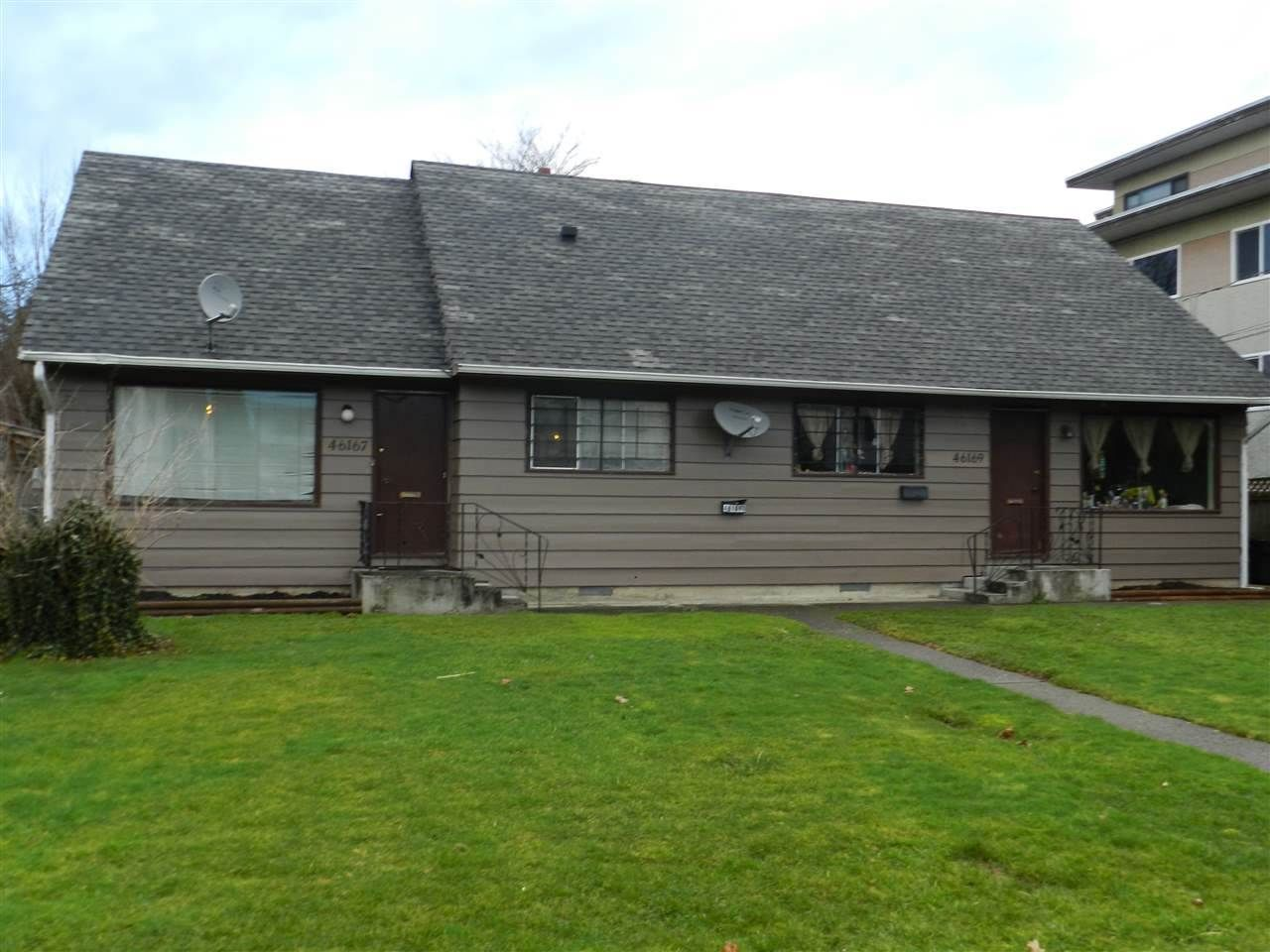 Main Photo: 46167 PRINCESS Avenue in Chilliwack: Chilliwack E Young-Yale Duplex for sale : MLS®# R2116497