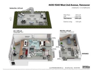 """Photo 31: PH610 1540 W 2ND Avenue in Vancouver: False Creek Condo for sale in """"The Waterfall Building"""" (Vancouver West)  : MLS®# R2580752"""
