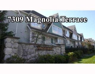 "Photo 1: 7309 MAGNOLIA Terrace in Burnaby: Middlegate BS Townhouse for sale in ""MONTEREY"" (Burnaby South)  : MLS®# V638772"