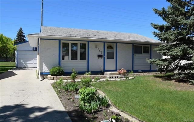 Main Photo: 103 Mutchmor Close in Winnipeg: Valley Gardens Residential for sale (3E)  : MLS®# 1815096