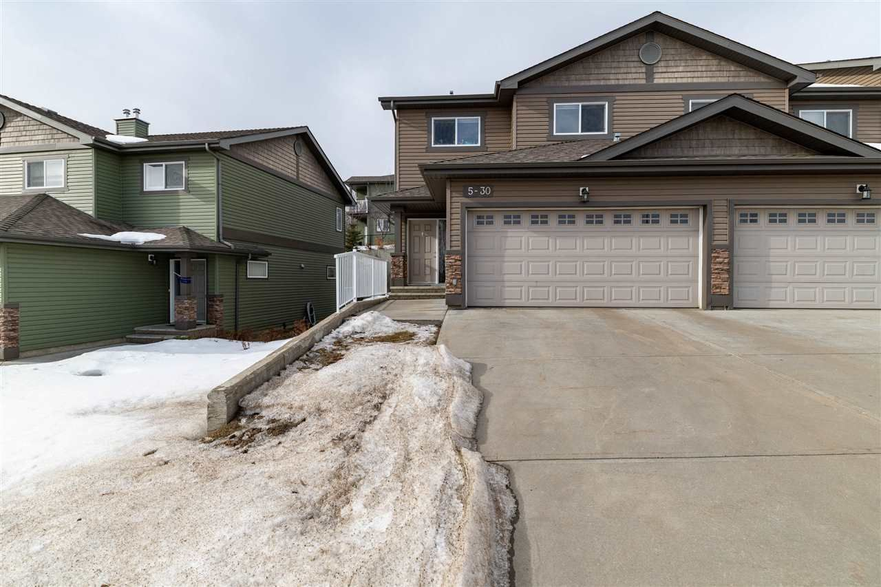 Main Photo: 5 30 Oak Vista Drive: St. Albert Townhouse for sale : MLS®# E4232152