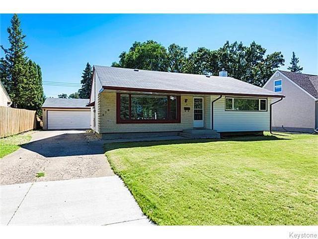 Main Photo: 170 Garrioch Avenue in Winnipeg: Silver Heights Single Family Detached for sale : MLS®# 1523290