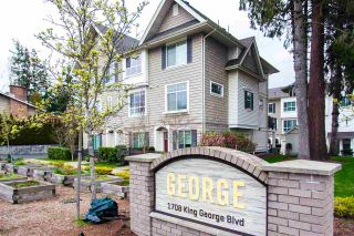 "Photo 1: 7 1708 KING GEORGE Boulevard in Surrey: King George Corridor Townhouse for sale in ""GEORGE"" (South Surrey White Rock)  : MLS®# R2559848"