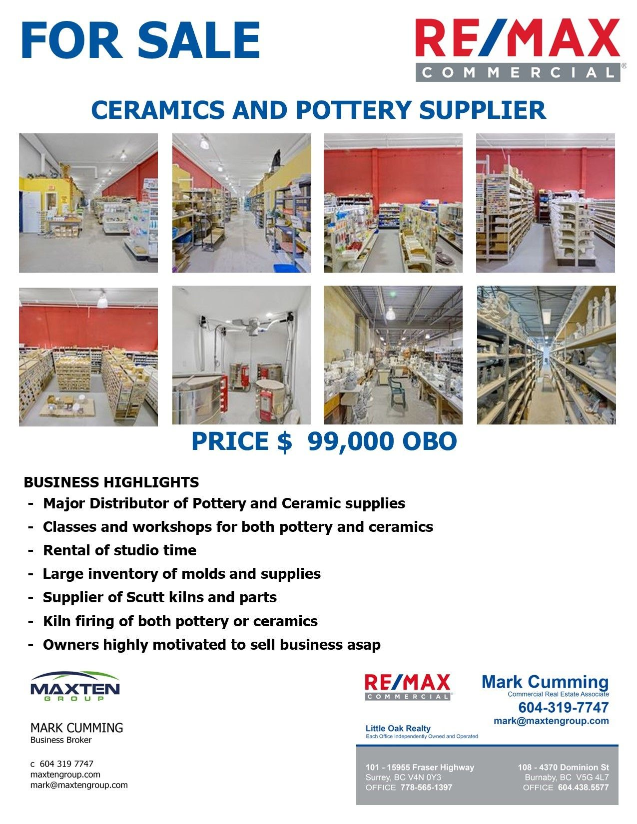 Main Photo: ~ ~ Ceramics and pottery business in : Cloverdale BC Business for sale (Cloverdale)