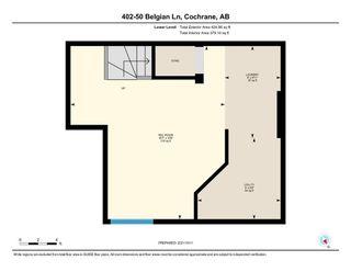 Photo 29: 402 50 Belgian Lane: Cochrane Row/Townhouse for sale : MLS®# A1153936