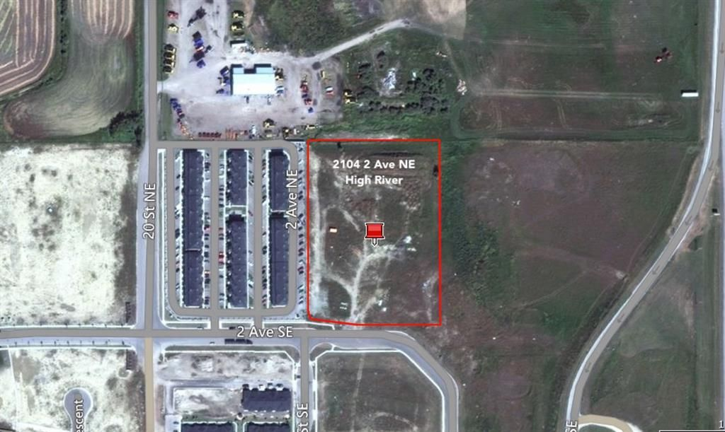 Main Photo: 2104 2 Avenue NE: High River Commercial Land for sale : MLS®# A1081161