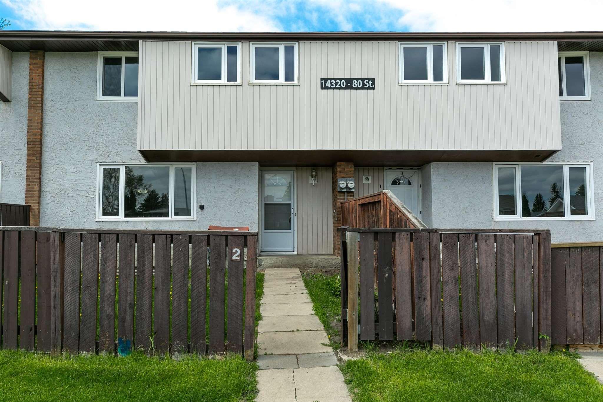 Main Photo: 2 14320 80 Street in Edmonton: Zone 02 Townhouse for sale : MLS®# E4249102