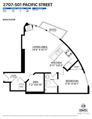 """Photo 32: 2707 501 PACIFIC Street in Vancouver: Downtown VW Condo for sale in """"THE 501"""" (Vancouver West)  : MLS®# R2532410"""