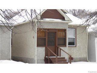 Photo 1: 480 Brandon Avenue in WINNIPEG: Manitoba Other Residential for sale : MLS®# 1602350