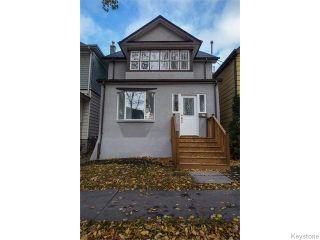 Photo 1: 757 Ashburn Street in WINNIPEG: West End / Wolseley Residential for sale (West Winnipeg)  : MLS®# 1527184