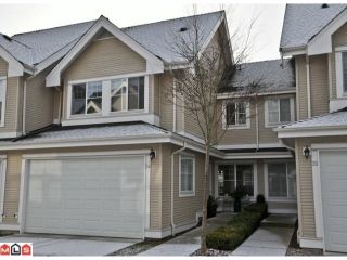 """Photo 1: 34 17097 64TH Avenue in Surrey: Cloverdale BC Townhouse for sale in """"Kentucky"""" (Cloverdale)  : MLS®# F1100822"""