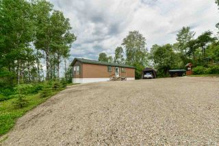 Photo 1: 4428 LAKESHORE Road: Rural Parkland County Manufactured Home for sale : MLS®# E4184645