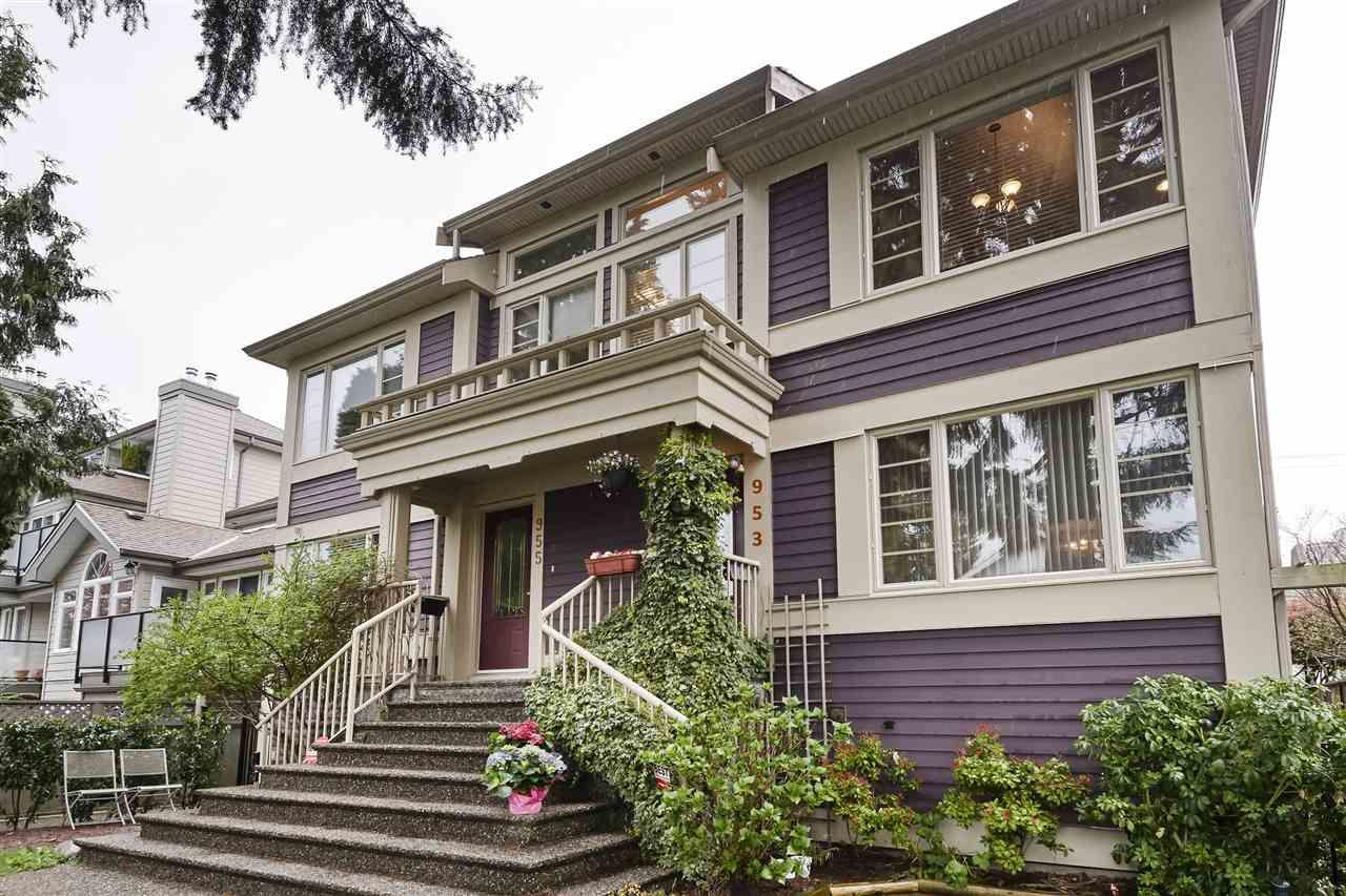 Main Photo: 953 W 15TH Avenue in Vancouver: Fairview VW 1/2 Duplex for sale (Vancouver West)  : MLS®# R2410098