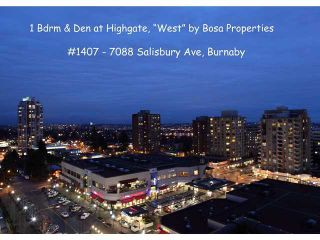 "Photo 9: 1407 7088 SALISBURY Avenue in Burnaby: Highgate Condo for sale in ""WEST @ HIGHGATE VILLAGE"" (Burnaby South)  : MLS®# V867057"