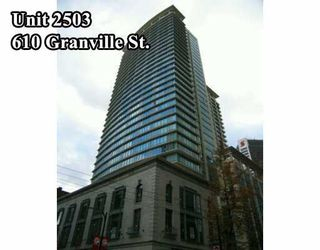 """Photo 1: 610 GRANVILLE Street in Vancouver: Downtown VW Condo for sale in """"THE HUDSON"""" (Vancouver West)  : MLS®# V622586"""