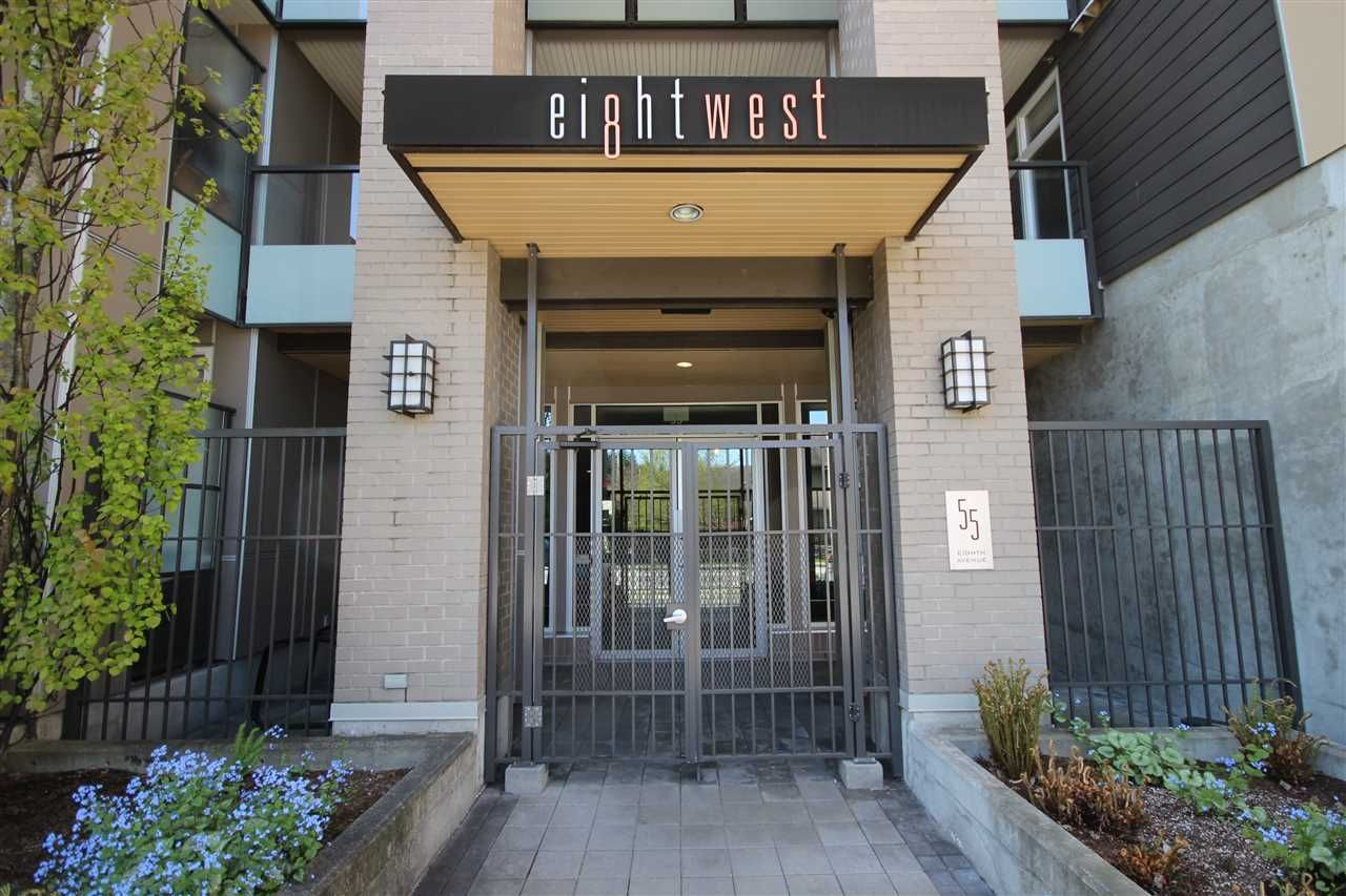 """Main Photo: 315 55 EIGHTH Avenue in New Westminster: GlenBrooke North Condo for sale in """"Eight West"""" : MLS®# R2398195"""