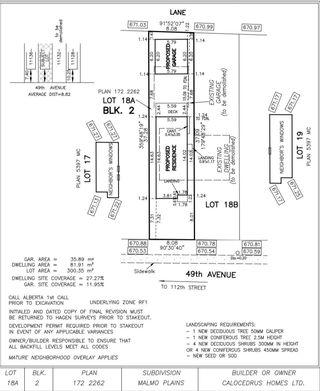 Photo 1: 11134 49 Avenue in Edmonton: Zone 15 Vacant Lot for sale : MLS®# E4249057