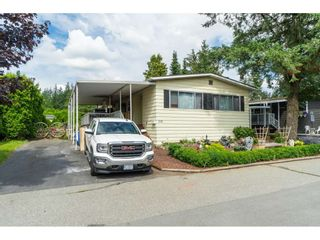 """Photo 1: 110 3665 244 Street in Langley: Otter District Manufactured Home for sale in """"Langley Grove Estates"""" : MLS®# R2383716"""