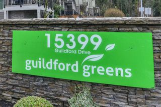 """Photo 1: 127 15399 GUILDFORD Drive in Surrey: Guildford Townhouse for sale in """"GUILDFORD GREEN"""" (North Surrey)  : MLS®# R2237547"""