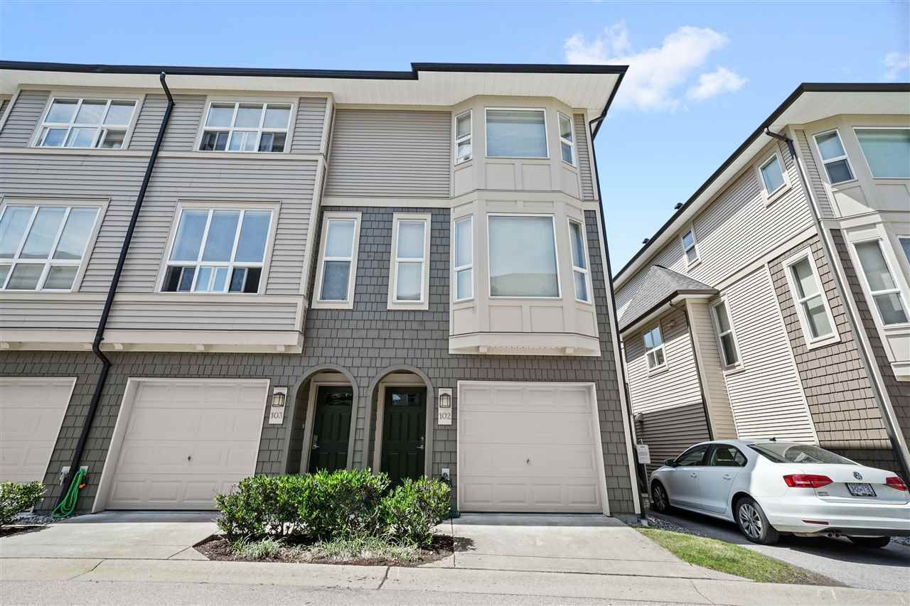 "Main Photo: 102 7938 209 Street in Langley: Willoughby Heights Townhouse for sale in ""Red Maple Park"" : MLS®# R2478940"