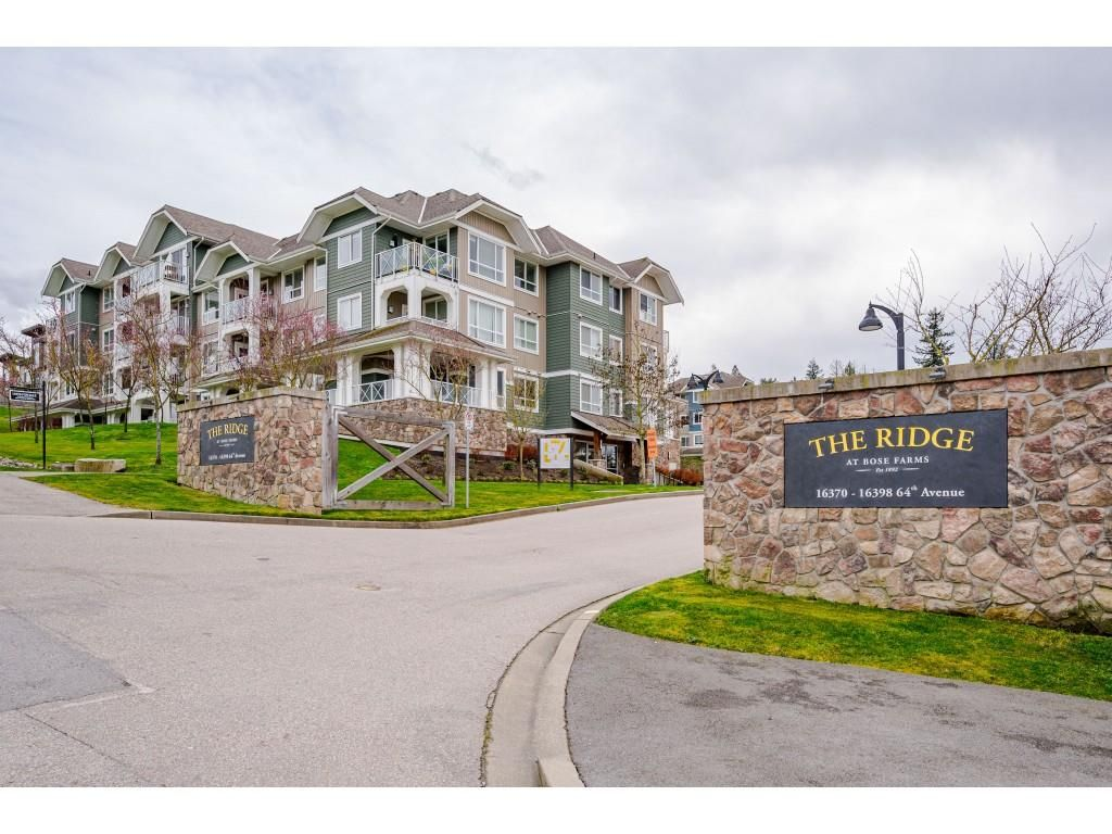 "Main Photo: 210 16398 64 Avenue in Surrey: Cloverdale BC Condo for sale in ""THE RIDGE AT BOSE FARM"" (Cloverdale)  : MLS®# R2560032"