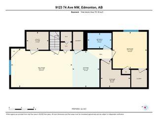 Photo 49: 9123 74 Avenue in Edmonton: Zone 17 House Half Duplex for sale : MLS®# E4241218