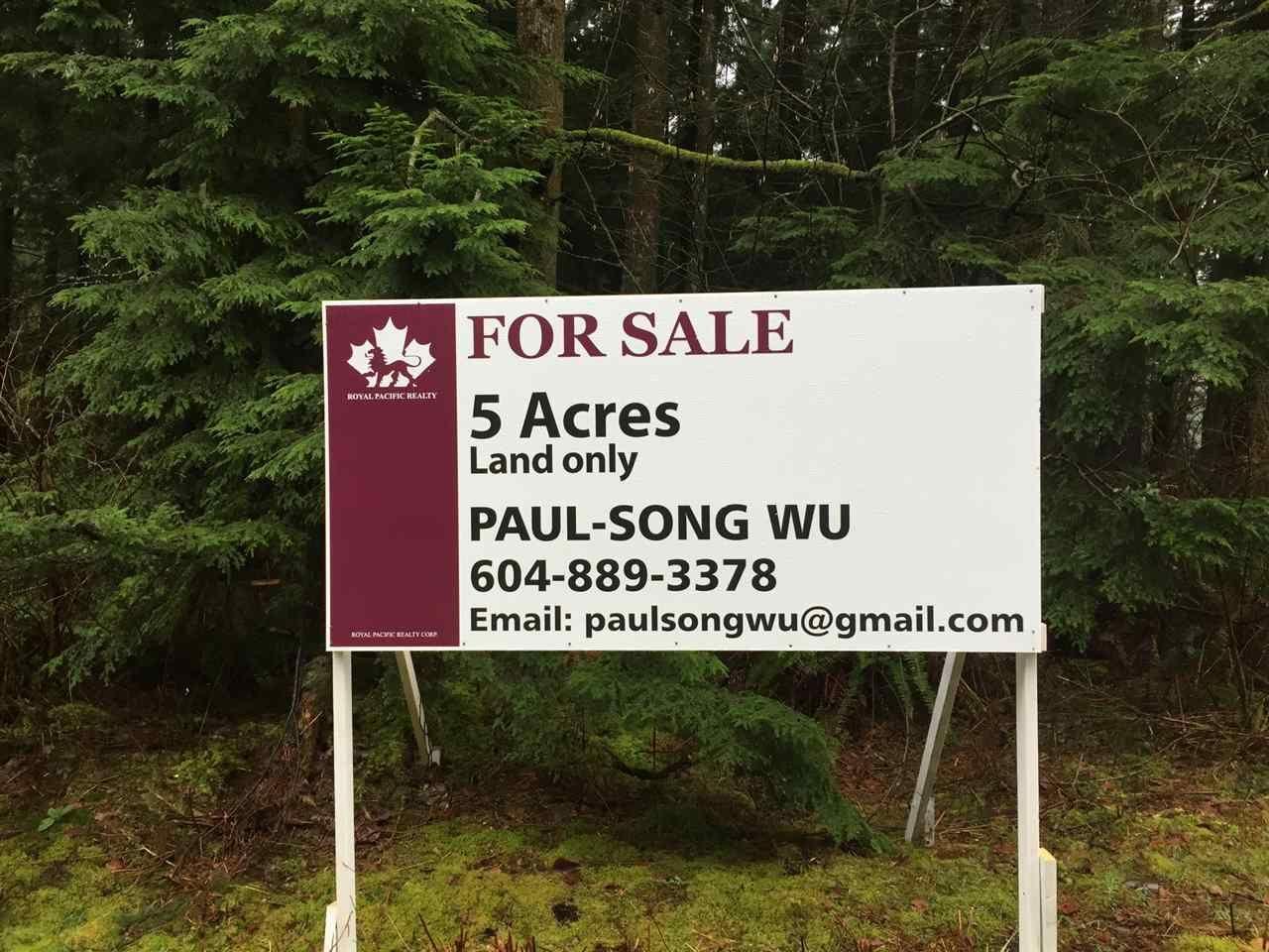 Main Photo: LOT 26 112TH AVENUE in Maple Ridge: Whonnock Land for sale : MLS®# R2029047
