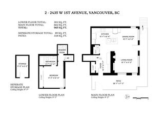 "Photo 33: 2 2435 W 1ST Avenue in Vancouver: Kitsilano Condo for sale in ""FIRST AVENUE MEWS"" (Vancouver West)  : MLS®# R2535166"