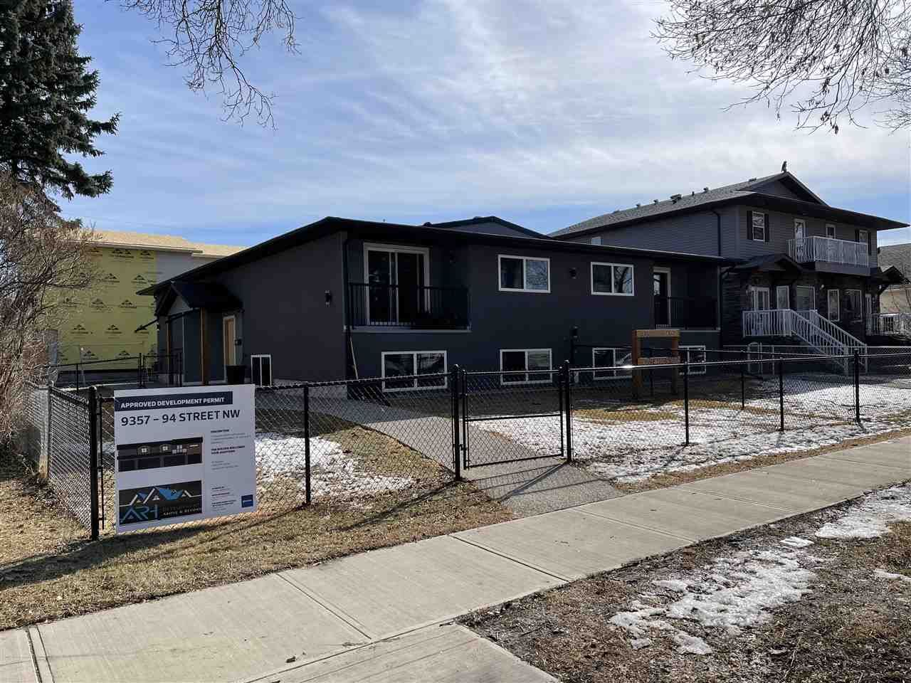 Main Photo: 9357 94 Street in Edmonton: Zone 18 Multi-Family Commercial for sale : MLS®# E4233121