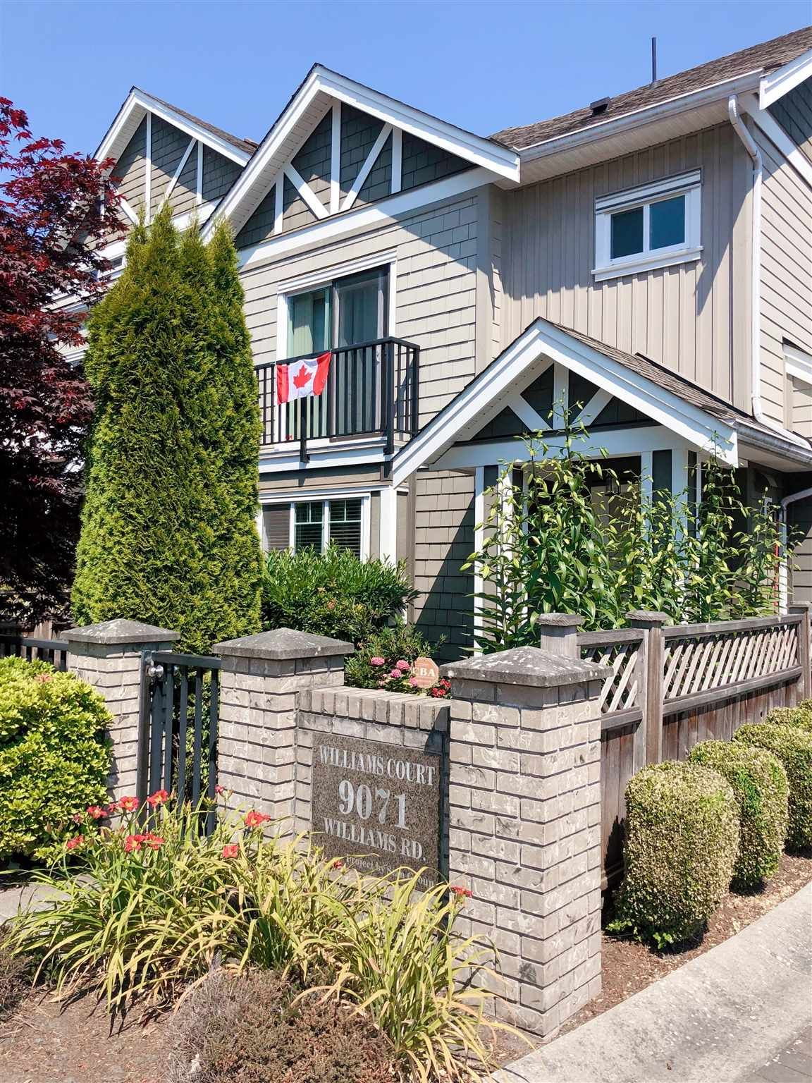 """Main Photo: 9 9071 WILLIAMS Road in Richmond: Saunders Townhouse for sale in """"SAUNDERS"""" : MLS®# R2602418"""