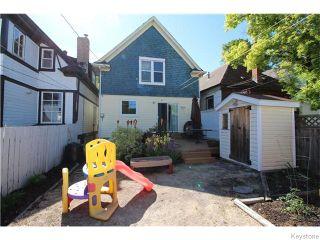 Photo 15: 647 Ashburn Street in Winnipeg: West End / Wolseley Residential for sale (West Winnipeg)  : MLS®# 1615292
