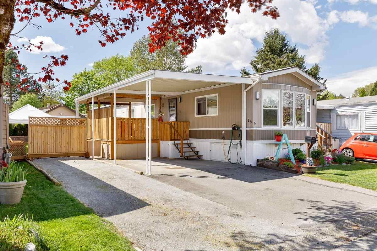 """Main Photo: 76 145 KING EDWARD Street in Coquitlam: Maillardville Manufactured Home for sale in """"MILL CREEK VILLAGE"""" : MLS®# R2574767"""