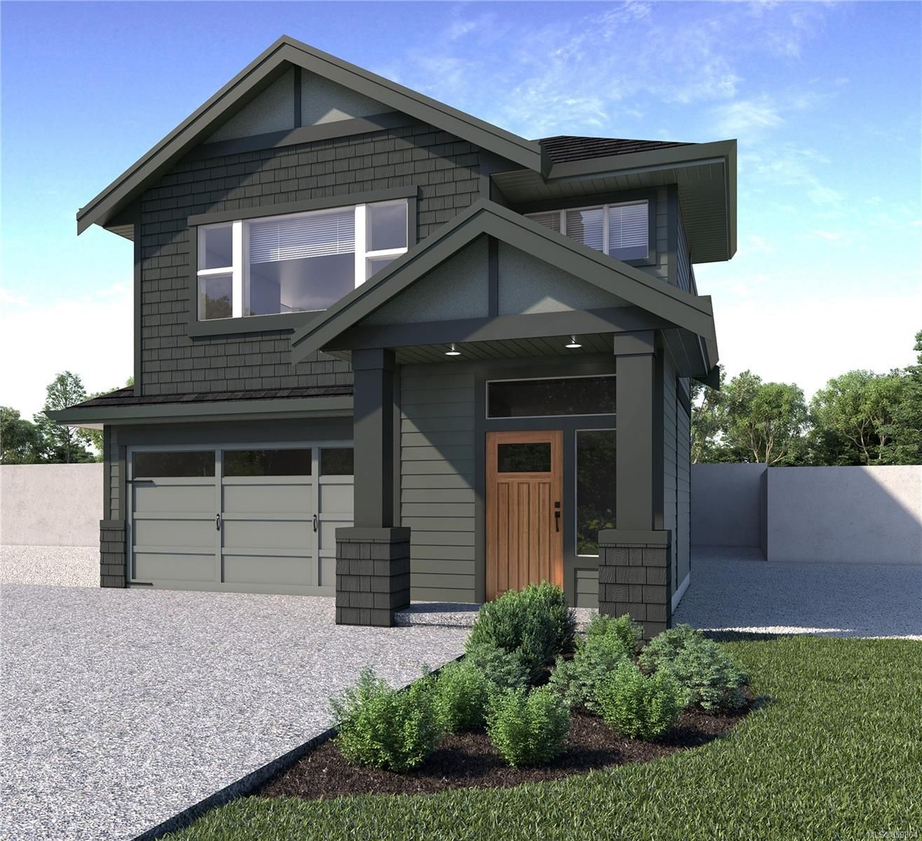 Rendering not of exact home, but one of similar quality and construction
