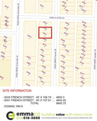 Photo 1: 8341 FRENCH Street in Vancouver: Marpole House for sale (Vancouver West)  : MLS®# R2104683