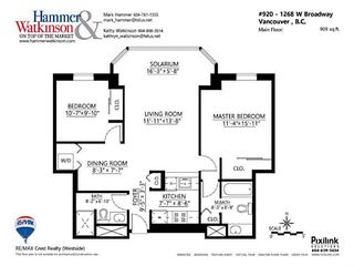 """Photo 18: 920 1268 W BROADWAY in Vancouver: Fairview VW Condo for sale in """"CITY GARDENS"""" (Vancouver West)  : MLS®# V1087529"""