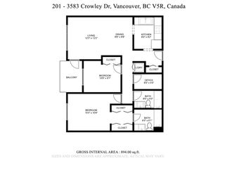"""Photo 30: 201 3583 CROWLEY Drive in Vancouver: Collingwood VE Condo for sale in """"AMBERLEY"""" (Vancouver East)  : MLS®# R2581170"""