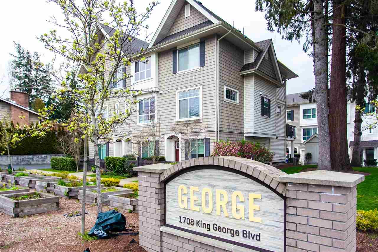"Main Photo: 7 1708 KING GEORGE Boulevard in Surrey: King George Corridor Townhouse for sale in ""GEORGE"" (South Surrey White Rock)  : MLS®# R2559848"