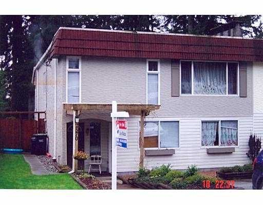 Main Photo: 2570 TUOHEY AV in Port Coquiltam: Woodland Acres PQ 1/2 Duplex for sale (Port Coquitlam)  : MLS®# V571529