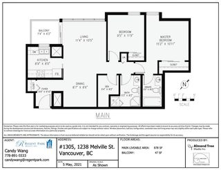 """Photo 16: 1305 1238 MELVILLE Street in Vancouver: Coal Harbour Condo for sale in """"POINTE CLAIRE"""" (Vancouver West)  : MLS®# R2579898"""