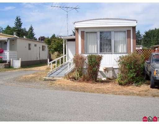 Main Photo: 20 26892 FRASER HY in Langley: Aldergrove Langley Manufactured Home for sale : MLS®# F2616101