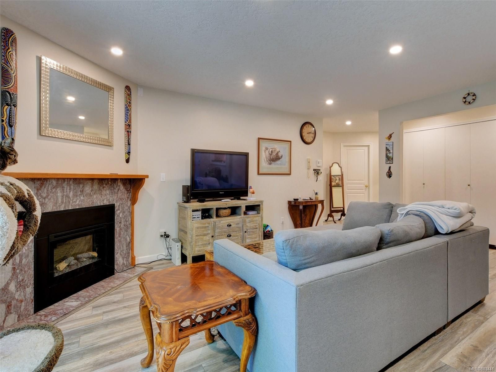 Welcome home! Large open concept Living Room with NEW electric fireplace
