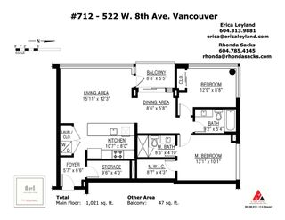"Photo 20: 712 522 W 8TH Avenue in Vancouver: Fairview VW Condo for sale in ""Crossroads"" (Vancouver West)  : MLS®# R2407550"