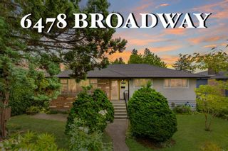 Photo 1: 6478 BROADWAY STREET in Burnaby: Parkcrest House for sale (Burnaby North)  : MLS®# R2601207