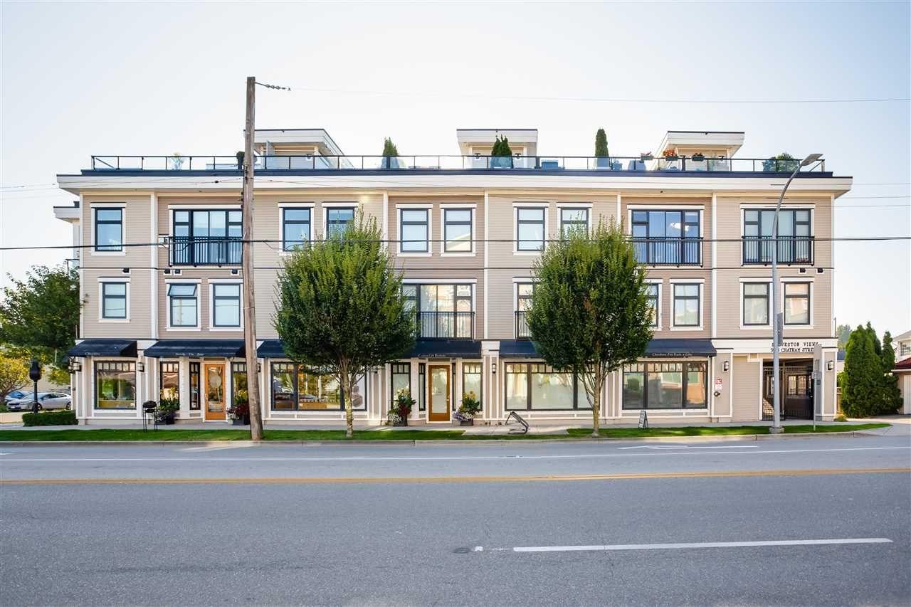"Main Photo: 8 3993 CHATHAM Street in Richmond: Steveston Village Townhouse for sale in ""STEVESTON VIEWS"" : MLS®# R2441255"