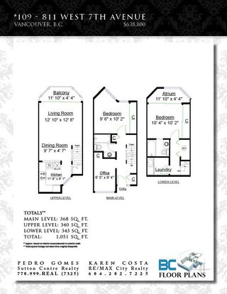 """Photo 3: 109 811 W 7TH Avenue in Vancouver: Fairview VW Townhouse for sale in """"WILLOW MEWS"""" (Vancouver West)  : MLS®# R2050721"""